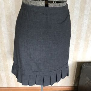 Express Wool Blend Skirt with Pleated Hem